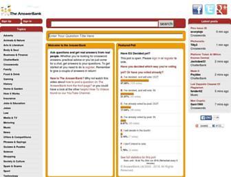 theanswerbank.co.uk screenshot