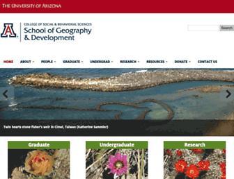geography.arizona.edu screenshot