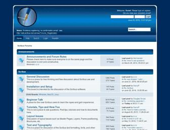 forums.scribus.net screenshot