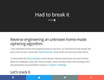 hadtobreakit.com screenshot