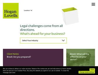hoganlovells.com screenshot