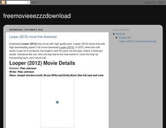 freemovieeezzzdownload.blogspot.com screenshot