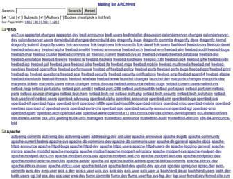 Main page screenshot of marc.info