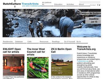 transartists.org screenshot