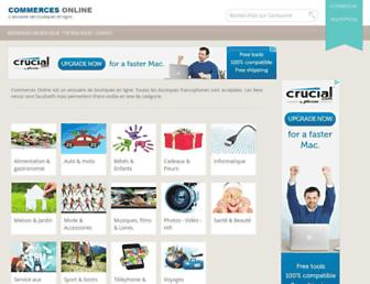 Main page screenshot of commerces-online.fr