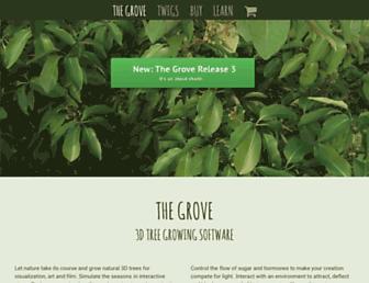 thegrove3d.com screenshot