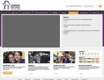 Main page screenshot of leadps.org