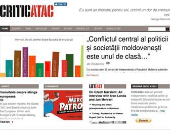 Main page screenshot of criticatac.ro
