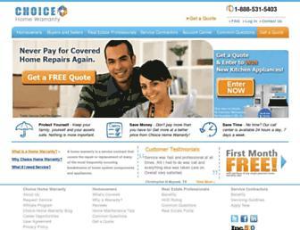 choicehomewarranty.com screenshot