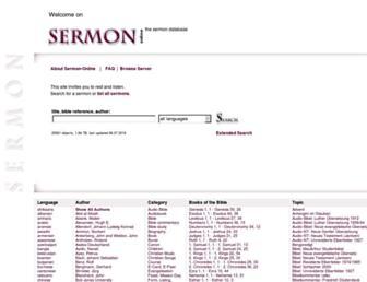 sermon-online.com screenshot