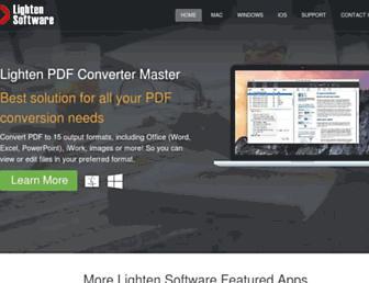 lightenpdf.com screenshot