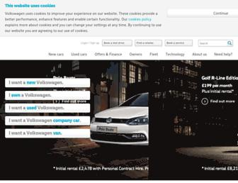 Main page screenshot of volkswagen.co.uk