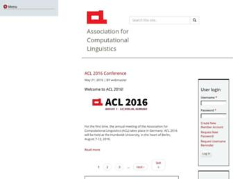 aclweb.org screenshot
