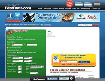 Screenshot for bestfares.com