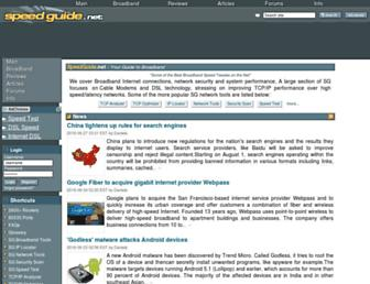 speedguide.net screenshot