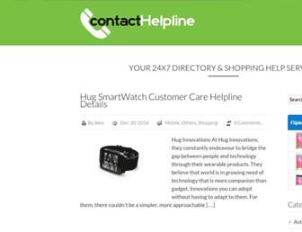 contacthelpline.in screenshot
