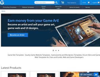 gamesitetemplates.com screenshot