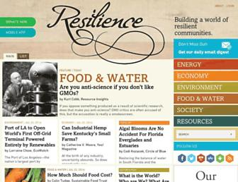 Main page screenshot of energybulletin.net