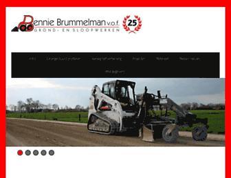 Main page screenshot of benniebrummelman.nl