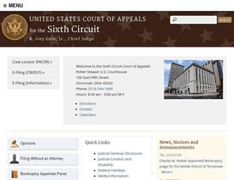 ca6.uscourts.gov screenshot