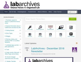 labarchives.kayako.com screenshot