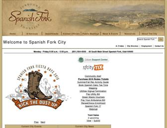 spanishfork.org screenshot