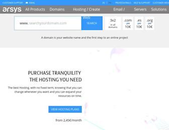 arsys.net screenshot