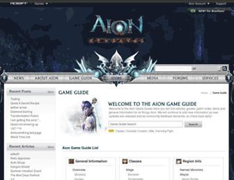 gameguide.na.aiononline.com screenshot