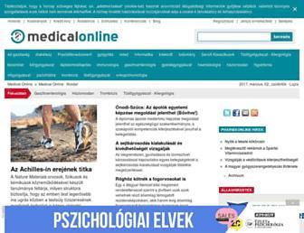 Main page screenshot of medicalonline.hu