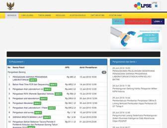 lpse.kkp.go.id screenshot
