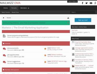 forum.mailwizz.com screenshot