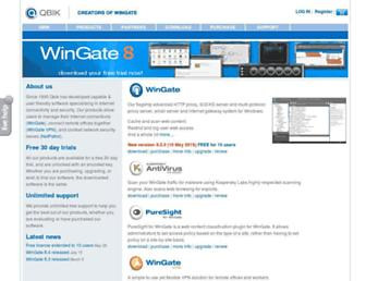 wingate.com screenshot