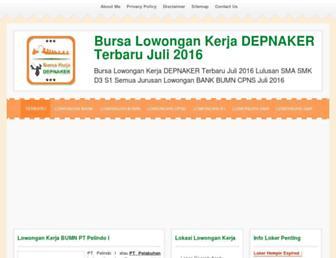 bursakerjadepnaker.com screenshot