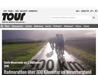 Main page screenshot of tour-magazin.de