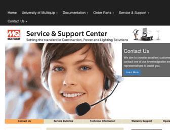 service.multiquip.com screenshot