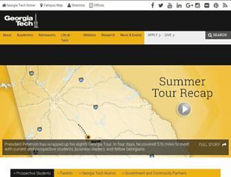 Main page screenshot of gatech.edu