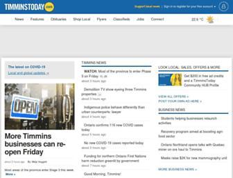 timminstoday.com screenshot