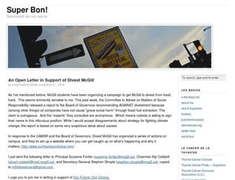 Main page screenshot of superbon.net