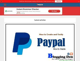 bloggingden.com screenshot