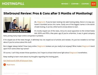 hostingpill.com screenshot