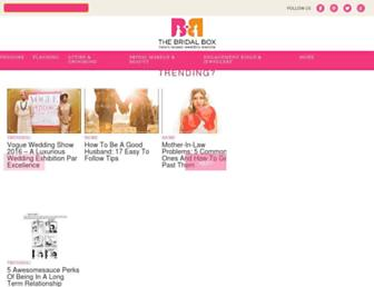 thebridalbox.com screenshot