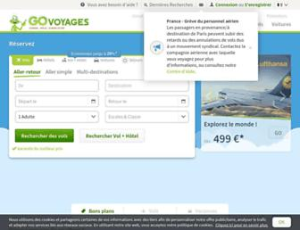 govoyages.com screenshot