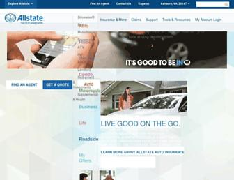 allstate.com screenshot