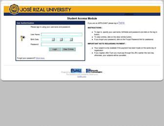 aims.jru.edu screenshot