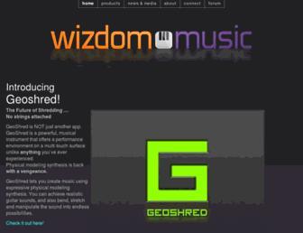 wizdommusic.com screenshot