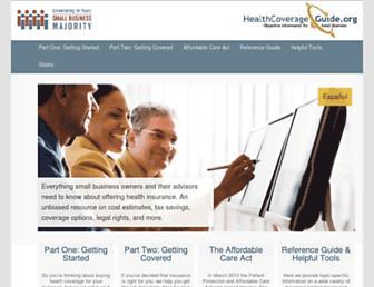 healthcoverageguide.org screenshot