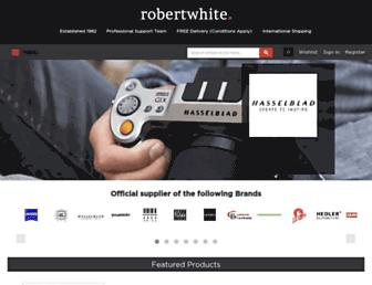 Main page screenshot of robertwhite.co.uk