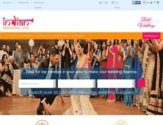 indianweddingsite.com screenshot