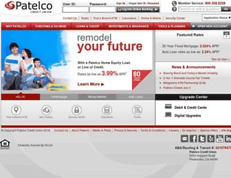 patelco.org screenshot
