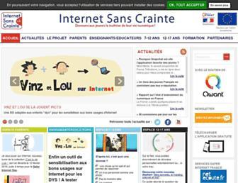 Thumbshot of Internetsanscrainte.fr